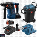 Bosch VAC140A 14GAL Dust Extractor + Rotary Hammer w/Dust Collection