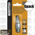 "Bostitch BTFP72333 6pk 1/4"" NPT Industrial Swivel Plug Replaces ISWIVEL-14M"