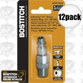 "Bostitch BTFP72333 12pk 1/4"" NPT Industrial Swivel Plug Replaces ISWIVEL-14M"
