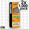 "Bostitch FN1524-1MSS 1000pk 1-1/2"" 15GA FN Style Angled Finish Nails 2x"