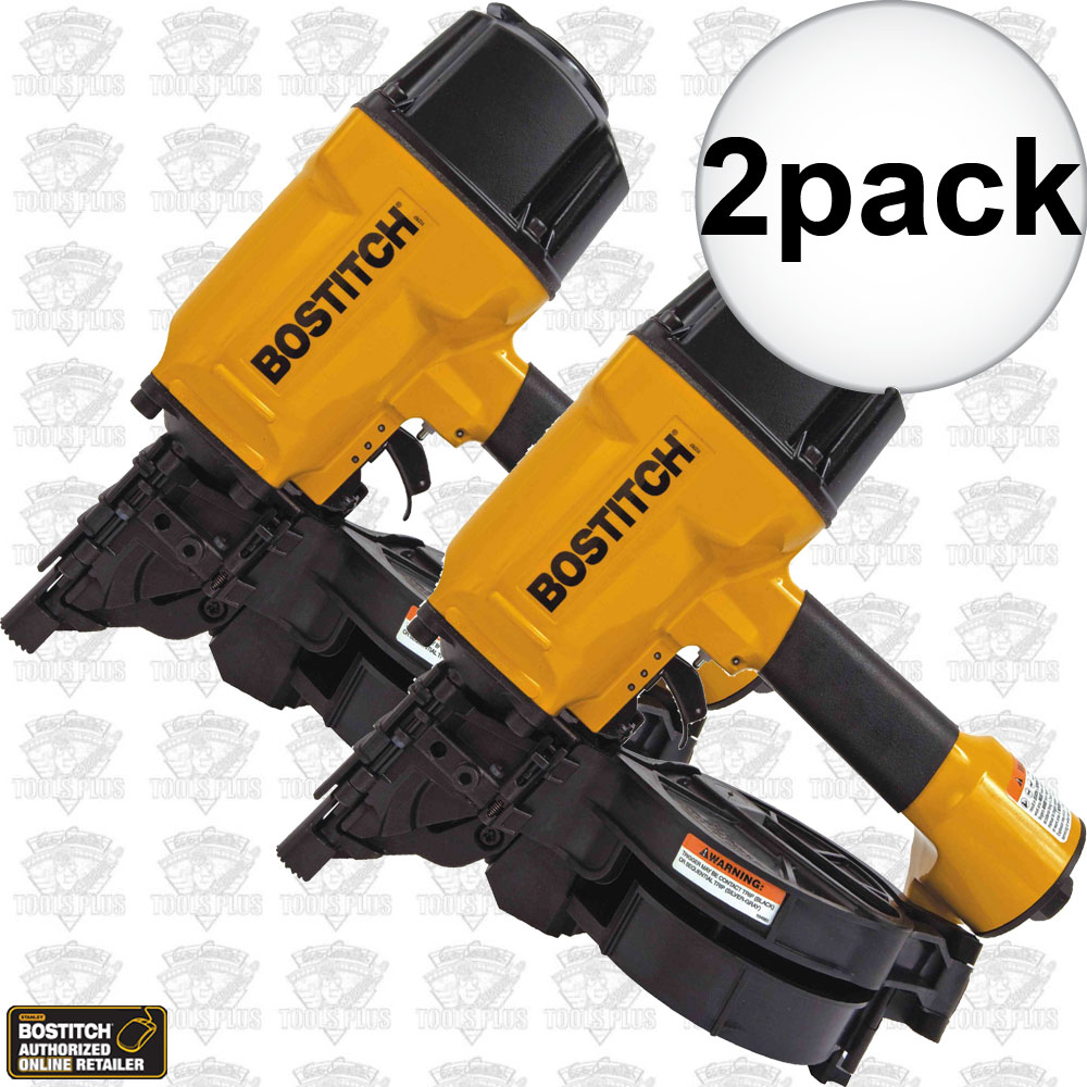Bostitch N80CB-1 2x 15 Deg. Industrial Coil Framing Nailer 1-1/2\