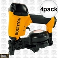 """Bostitch RN46-1 4pk 3/4"""" to 1-3/4"""" 15 Deg. Coil Roofing Nailer"""