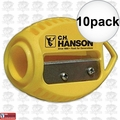 C. H. Hanson 00202 10pk VersaSharp Carpenter Pencil Sharpeners Flat or Round