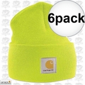 Carhartt A18 6pk Bright Lime Acrylic Watch Cap One Size Fits All