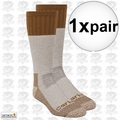 Carhartt A66 Cold Weather Boot Sock Pair Brown Large