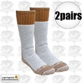 Carhartt A66 2pk Cold Weather Boot Socks Brown Large