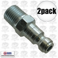 "Coilhose 1601 2pk 1/4"" NPT Male T Plug Air Fitting"