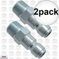 "Coilhose 5901 2pk 3/8"" NPT Male P Plug Air Fitting"
