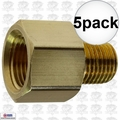 "Coilhose C0604-DL 5pk 3/8"" FPT x 1/4"" MPT Hex Adapter"