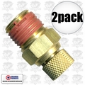 "Coilhose DV04 2pk Air Compressor Tank Replacement Air Valve 1/4"" NPT"