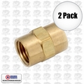 "Coilhose K0404-DL 2pk 1/4"" x 1/4"" FPT Hex Coupling"