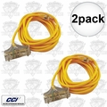 Coleman Cable 03487 2pk 25' 12/3 Wire 3-Way Extension Cord