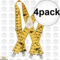 Custom Leathercraft 110RUL 4pk Elastic Work Suspenders - Tape Rule