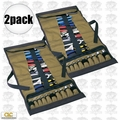 Custom Leathercraft 1173 2pk 32-Pocket Socket Tool Roll Pouch