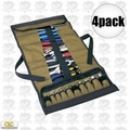 Custom Leathercraft 1173 4pk 32-Pocket Socket Tool Roll Pouch