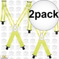 Custom Leathercraft 14110 2pk Heavy Duty Hi-Viz Suspenders