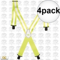 Custom Leathercraft 14110 4pk Heavy Duty Hi-Viz Suspenders