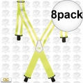 Custom Leathercraft 14110 8pk Heavy Duty Hi-Viz Suspenders