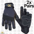 Custom Leathercraft 145L 2pk Tradesman High Dexterity Work Gloves - Large