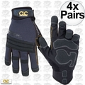 Custom Leathercraft 145XL 4pk Tradesman High Dexterity Work Gloves - XLarge