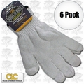 Custom Leathercraft 2000 6pk String Knit Glove Liner