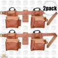 Custom Leathercraft 21448 2pk 17-Pocket 4pc Pro Framer's Combo Tool Belt