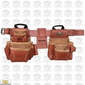 Custom Leathercraft 21448 17-Pocket 4pc Pro Framer's Combo Tool Belt