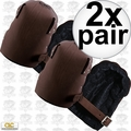 Custom Leathercraft 309 2pk Top Grain Leather Construction Knee Pads
