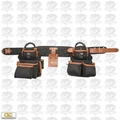 Custom Leathercraft 51452 27 Pocket Pro Framer 4pc Signature Tool Belt Bag