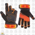 Custom Leathercraft L145 1pr Safety Viz Pro Illuminated Work Gloves - Large