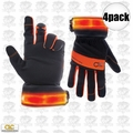 Custom Leathercraft L205 4pk Safety Viz Illuminated Work Gloves - Large