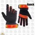 Custom Leathercraft L205 8pk Safety Viz Illuminated Work Gloves - Large