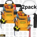 DeWalt DG5333 2pk 10-Pocket Carpenter's Suede Nail and Tool Bag