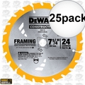 DeWalt DW3578 25pk Framing Saw Carbide Circular Saw Blade