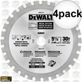"DeWalt DWA7770 4pk 5-1/2"" 30T Metal Cutting Saw Blade"