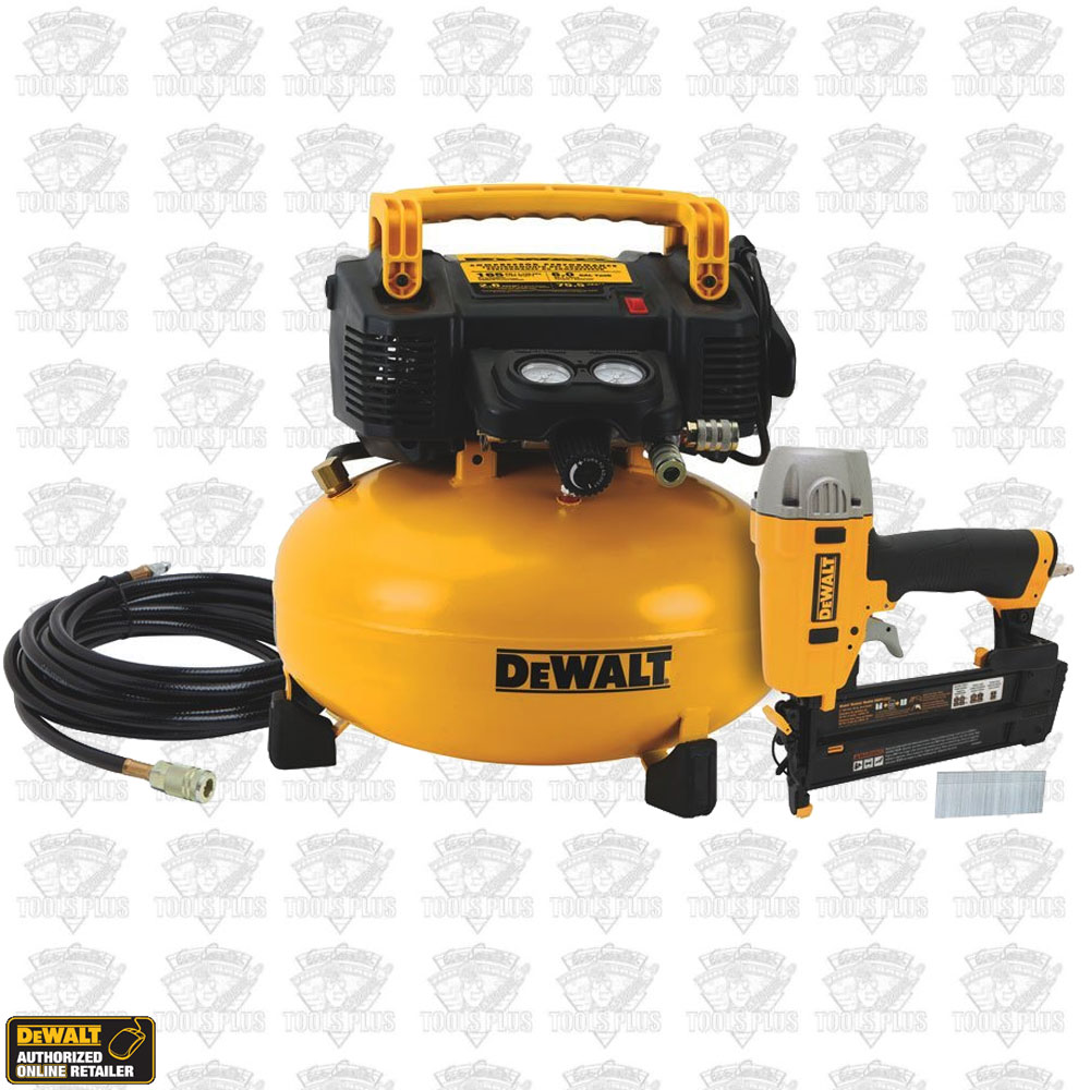 DeWalt DWC1KIT-B DeWalt 6 Gallon Compressor & Brad Nailer Combo Kit
