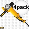 "DeWalt DWE46066 4pk 13A 6"" No Lock Rat Tail Cutoff Tool w/ Adjustable Guard"