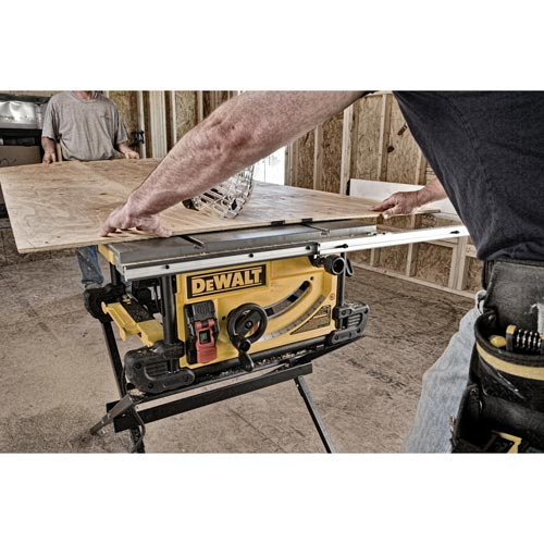Dewalt dwe7490x 10 39 39 jobsite table saw with compact for 10 tradesman table saw