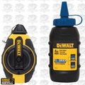 DeWalt DWHT47373L 100' Chalk Reel + Blue Chalk
