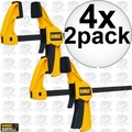 "DeWalt DWHT83148 4x 2pk (8 Total) 4.5"" Small Trigger Clamps"