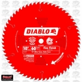 "Diablo D1060X 10"" x 60 Tooth Fine Finish Blade"