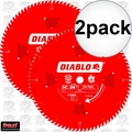 "Diablo D1484X 2pk 14"" x 84 Tooth ATB Miter Wood Saw Blade"