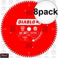 "Diablo D1484X 8pk 14"" x 84 Tooth ATB Miter Wood Saw Blade"