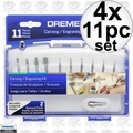 Dremel 689-01 4x 11pc Carving/Engraving Mini Accessory Kit