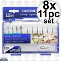 Dremel 689-01 8x 11pc Carving/Engraving Mini Accessory Kit