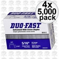 """Duo Fast 5010-C 4x Boxes Of 5000 5/16"""" Staples"""