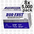 """Duo Fast 5010-C 8x Boxes Of 5000 5/16"""" Staples"""