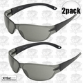 Edge Eyewear AKE116 2pk Savoia Safety Glasses - Black with Smoke Lens
