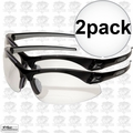 Edge Eyewear DZ111-1.5G2 2pk Black Clear Lens Zorge Safety Glasses 1.5x Mag