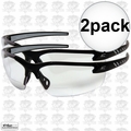 Edge Eyewear DZ111-G2 2pk Black Frame - Clear Lens Zorge G2 Safety Glasses